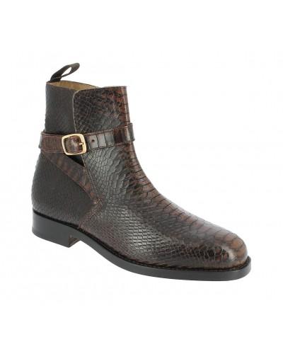 Boot Center 51 6191 Reno brown leather python print finish
