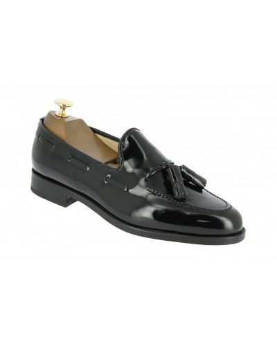 Moccasin with Pompons Center 51 3136 Will black varnished leather