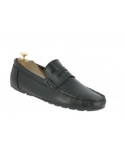 Moccasin Driver Center 51 AJ 955 black leather