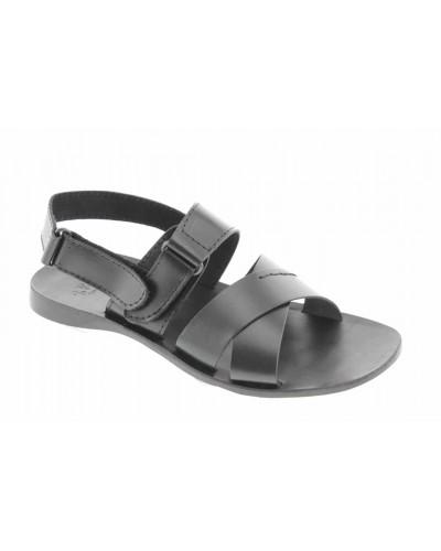 Sandals Zeus 3001 black leather