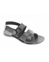 Sandals Zeus 3001 black leather