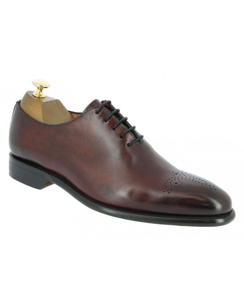 Oxford shoe Berwick 3582 burgundy leather