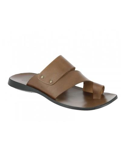 Sandals Zeus 1173 brown leather