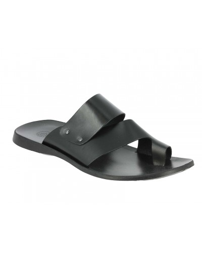 Sandals Zeus 1173 black leather