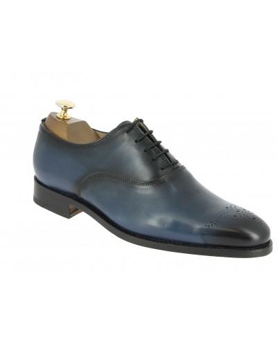Oxford shoe Center 51 12168 Doug navy blue leather