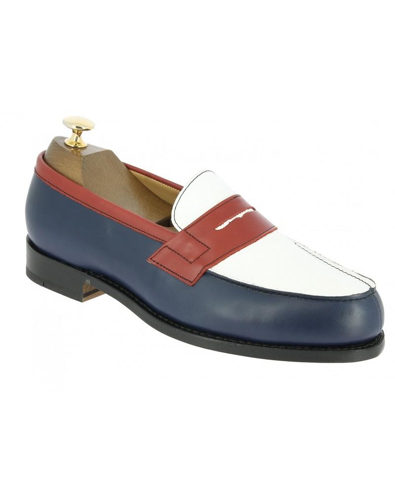 Moccasin Center 51 2906 Dan multicoloured leather blue white red