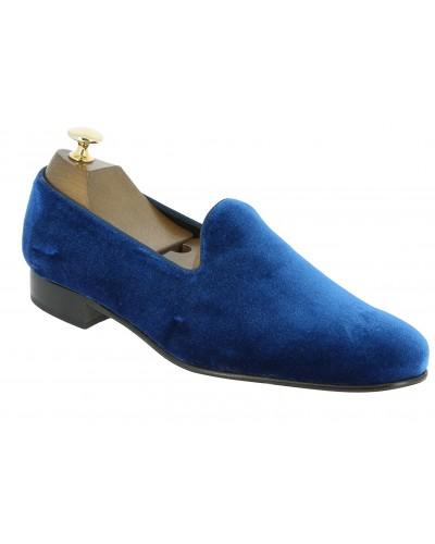 Moccasin slippers sleepers Center 51 Duke  blue velvet
