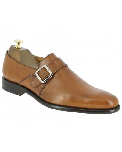 Monk strap shoe Berwick 3520 blond leather