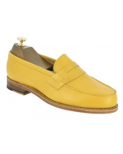Moccasin Center 51 2906 Dan yellow leather