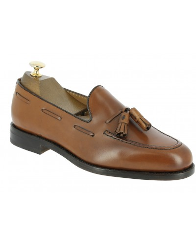 Moccasin with pompons Berwick 8491 blond leather