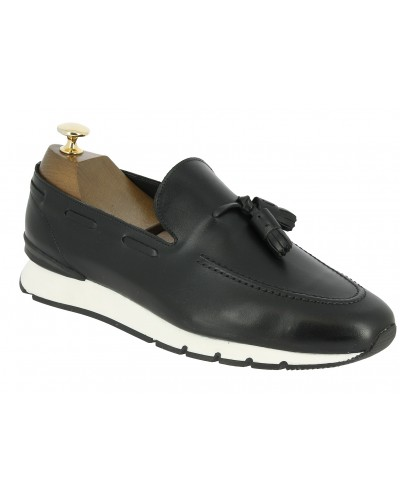 Moccasin with Pompons Sneakers Center 51 13504 black leather