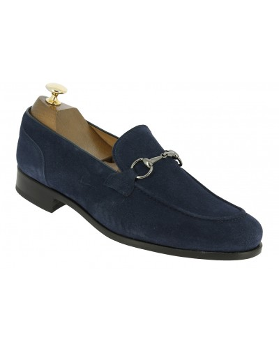 Moccasin shoe Center 51 Classico Sphynx blue navy suede