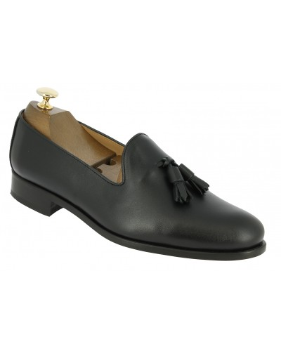 Moccasin shoe with pompons Center 51 Classico Safety black leather