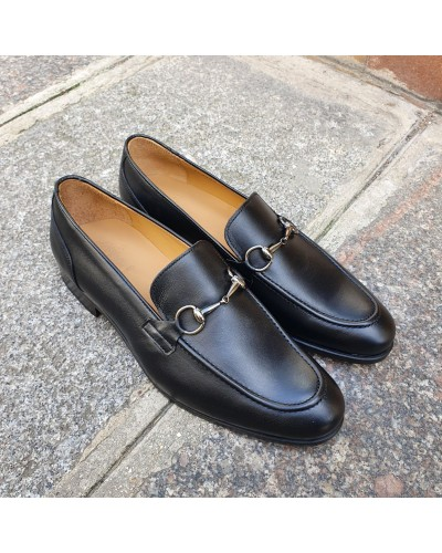 Moccasin shoe Center 51 Classico Sphynx black leather