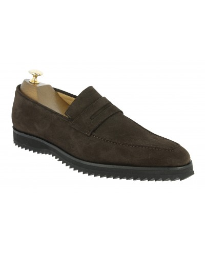Moccasin Sneakers Center 51 13537 brown suede