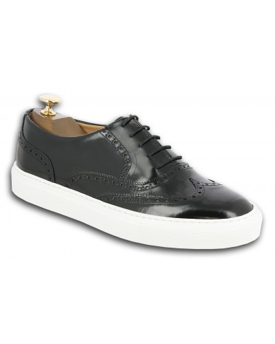 Sneakers richelieu Center 51 Lightfield cuir noir