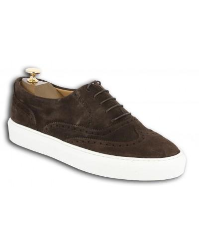 Sneakers richelieu Center 51 Lightfield daim marron