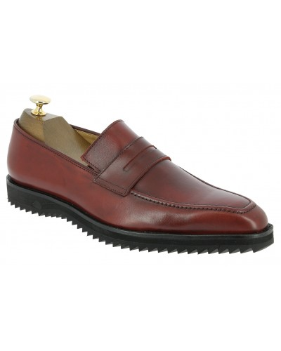 Moccasin Sneakers Center 51 13537 red leather