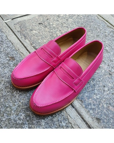 Moccasin Woman Center 51 0622 Wendy pink leather