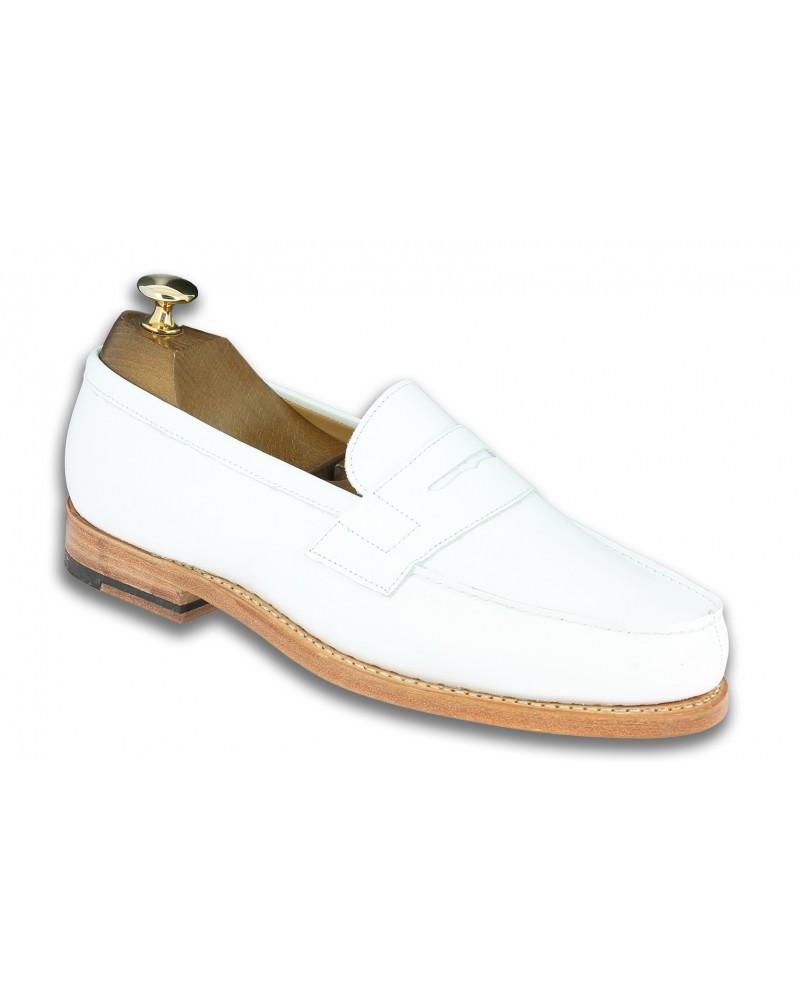 Moccasin Center 51 2906 Dan white leather