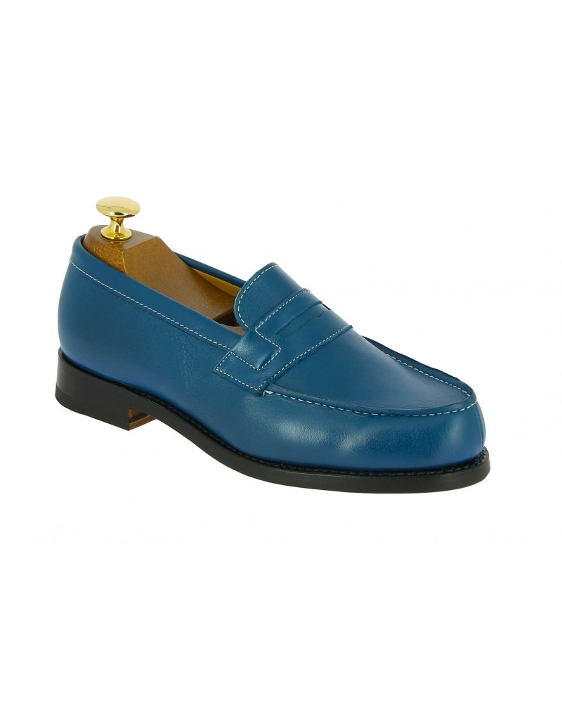 Moccasin Woman Center 51 0622 Wendy electric blue leather