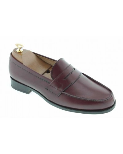Moccasin Johann 1961 burgundy leather