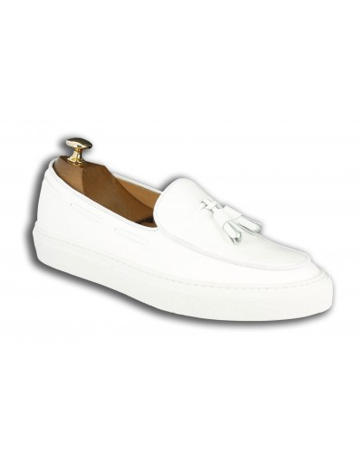 Moccasin with Pompons Sneakers Center 51 Coolest white leather