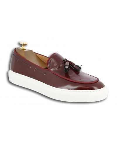Moccasin with Pompons Sneakers Center 51 Coolest burgundy leather