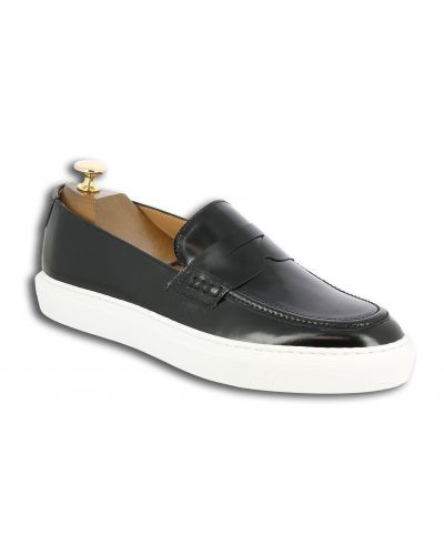 Moccasin with Pompons Sneakers Center 51 Much black leather