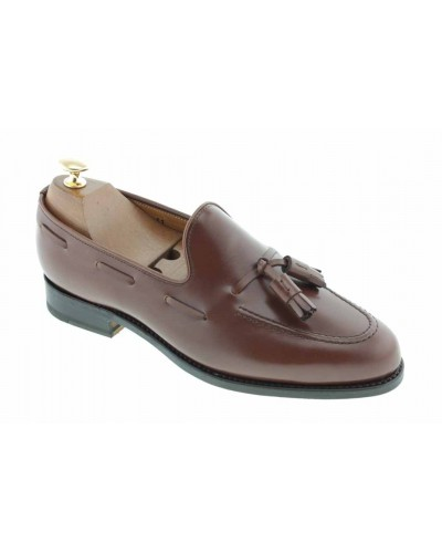 Moccasin with Pompons John Mendson 3079 brown leather