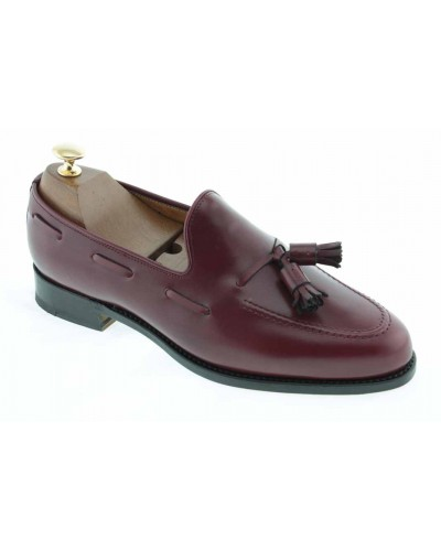 Moccasin with Pompons Center 51 3079 Ben burgundy leather