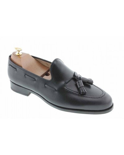 Moccasin with Pompons Johann 3136 black leather