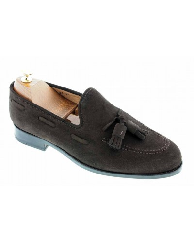 Moccasin with Pompons Center 51 3136D Will brown suede