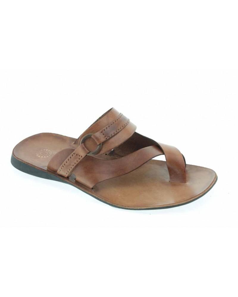 Sandals Zeus 1172 brown leather