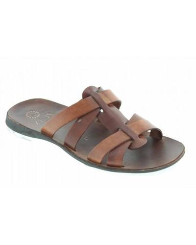 Sandals Zeus 1273 brown leather